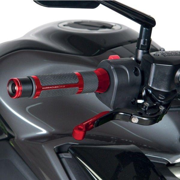 Barracuda Lenkerenden-Gewichte B-LUX universal schwarz-rot