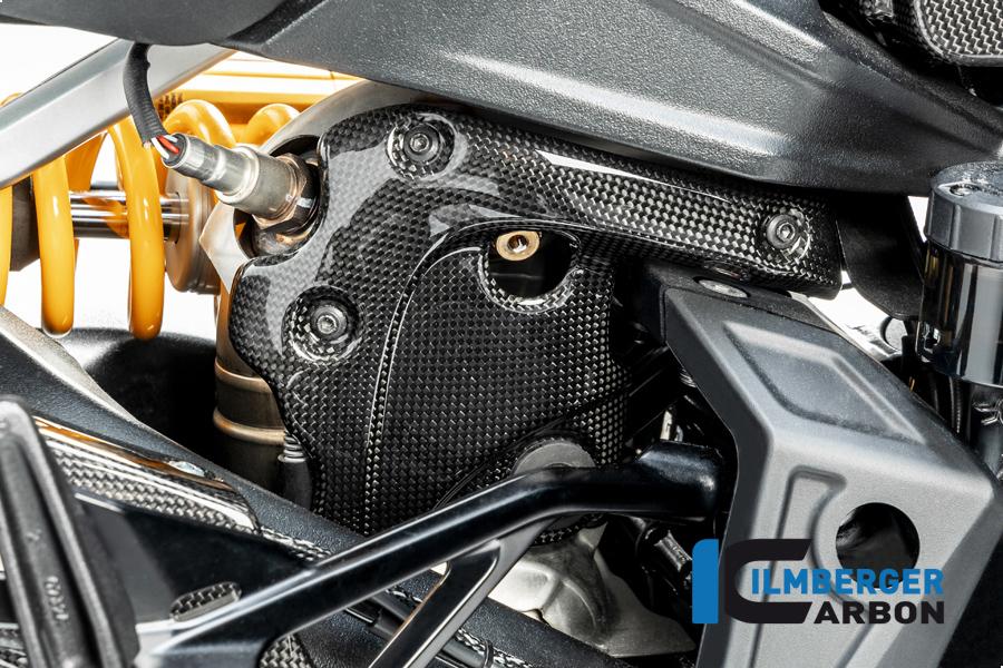 Ilmberger Carbon Auspuffhitzeschutz am Krümmer mit ABE, glänzend, für Ducati Diavel 1260 ab Modelljahr 2019-