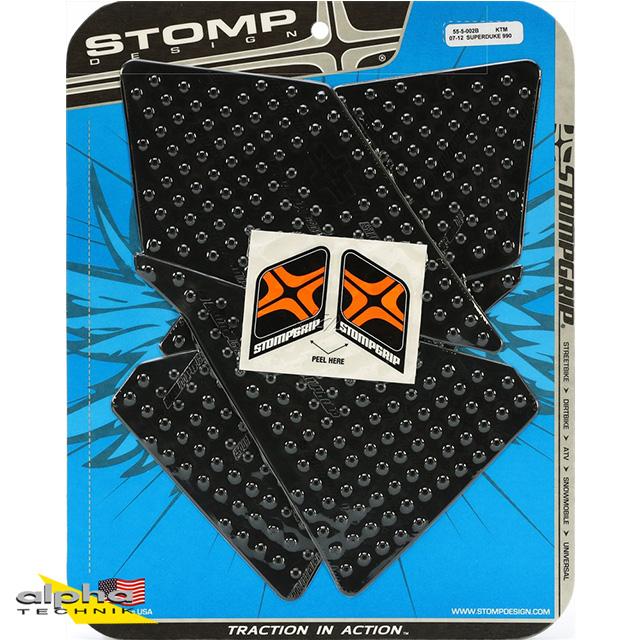 Stompgrip schwarz, Volcano, für KTM 990 Super Duke/ R, 2007-13